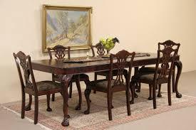 sold georgian style 1940 u0027s mahogany dining set table 6 chairs