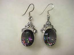 topaz earrings mystic topaz 925 sterling silver earrings by pearl