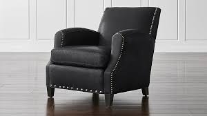 Club Armchair Leather Club Chairs Crate And Barrel