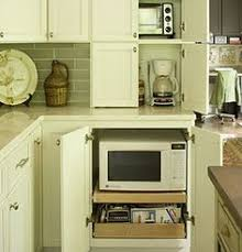 Kitchen Cabinets With Microwave Shelf Microwave Shelf Design Ideas Pictures Remodel And Decor