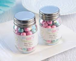 gender reveal personalized mini mason jar reveal party favors by