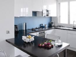 couleur cuisine blanche idee deco cuisine blanche et bleu cuisine blanche murs bleus et mur