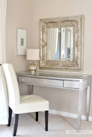 diy silver leaf vanity made from an old thrift store desk love