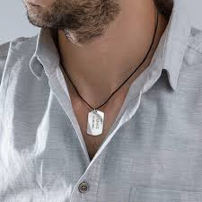 tag necklace mens images Sterling silver men 39 s dog tag necklace mynamenecklace jpg