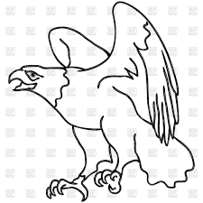 hawk outline vector clipart image 75737 u2013 rfclipart