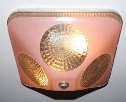 Art Deco Ceiling Light Fixtures Lamps U0026 Lighting Antique Pink Square Glass Flush Art Deco Light