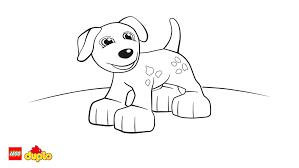 lego duplo dog coloring coloring lego duplo