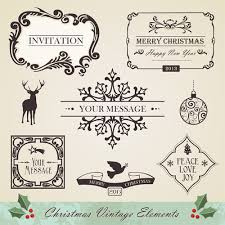 christmas vintage ornaments elements vector set 02 u2013 over millions