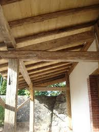 auvent en bois pour terrasse création d u0027un auvent en vieux bois lavorel guillaume charpentier