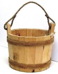 Wishing Well Garden Decor Wooden Bucket With Rope Handle Wishing Well Pail Planter Or Decor