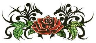 large tribal rose tattooforaweek temporary tattoos largest