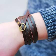 leather wrap bracelet women images Buy 2016 new fashion brown genuine leather wrap jpg