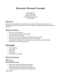 bartending resume exle bartending resume sles server sle resume sle bartender