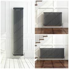 Kitchen Radiators Ideas by Traditional Style Vertical Radiator Anthracite 4 Column 1800x300