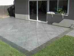 poured concrete patio patio decoration