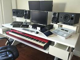audio studio desk bedroom home studio desk design ideas simple