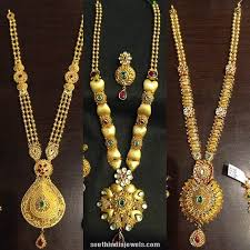 gold long necklace images Latest long necklace design catalog gold diamond gold jpg