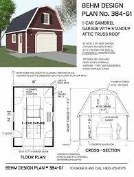 24 x 24 garage plans gambrel roof 1 car garage plan no 384 g1 16 x 24 for the house
