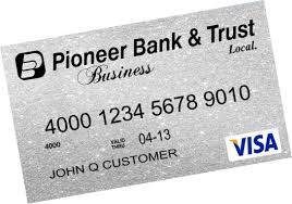 Visa Business Card Business Atm Visa Checkcard Pioneer Bank U0026 Trust