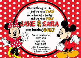 mickey mouse clubhouse birthday invites mickey u0026 minnie mouse birthday invitation by 123invites on etsy