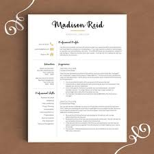 Employment Resume Sample by Modern Resume Template For Word U0026 Pages 1 2 By Thetemplatestudio