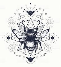 bee tattoo art hand drawn sketch of bumblebee bee tattoo sketch