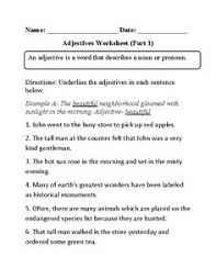 what kind adjectives worksheets englishlinx com board