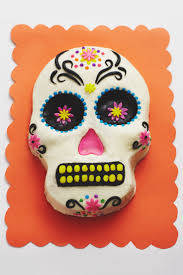 How To Make Halloween Cakes How To Make A Day Of The Dead Skull Cake Step X Step Cakegirls