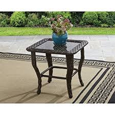 better homes and gardens coffee table amazon com better homes and gardens colebrook glass top side table