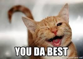 You Da Best Meme - you da best winking cat meme generator