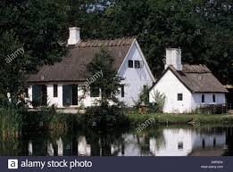 old danish country house lejre zealand denmark stock photo