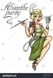 retro party invitation card retro stock illustration 96969353