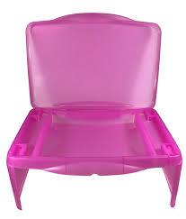 kids folding lap desk pink foldable lap tray with storage