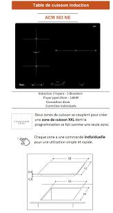 Cdiscount Table De Cuisson Gaz by Whirlpool Acm883ne Table De Cuisson à Induction 3 Zones 7000w