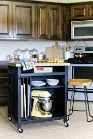 roll around kitchen island diy rolling kitchen island