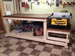 Woodworking Bench Plans Garage by I Built A Sturdy