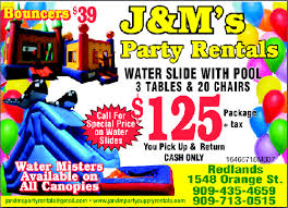rental party supplies j m party supply rentals specials