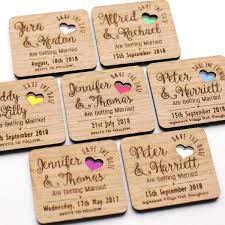 save the date magnets wooden save the date wedding magnets with coloured hearts nivi