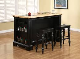 retro black painted oak wood bar stool with marble top kitchen