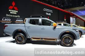 mitsubishi trucks 2016 mitsubishi l200 geoseek concept side at the geneva motor show 2016