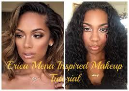 cyn santana burgundy hair erica mena inspired makeup tutorial youtube