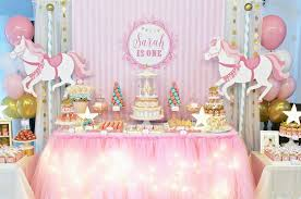 Dessert Table Backdrop by Carousel Party Banner Backdrop Poster Carousel Large Scale