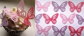 butterfly cake toppers pink and lilac butterfly cake decorations edible wafer x 24 pink