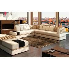 canapé d angle 7 places cuir canapé d angle en cuir italien 6 7 places riva écru et marron
