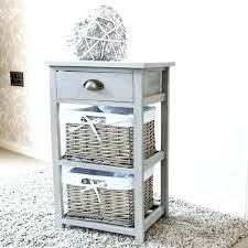 bathroom storage cabinet with baskets less is more modern bathroom