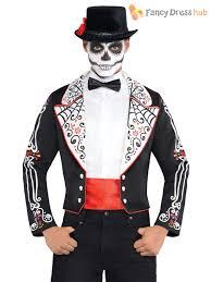 Skeleton Suit Halloween by Mens Day Of The Dead Skeleton Tailcoat Halloween Fancy Dress