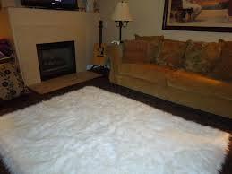 Cheap White Rug Decor Fabulous Fur Rug For Floor Decoration Ideas