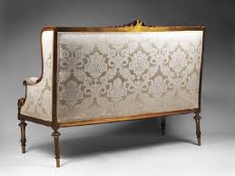 canape louis xvi settee with canape silhouette inspired by louis xvi parrot