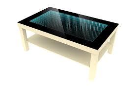 modern 3d led illuminated infinity vanity mirror coffee table