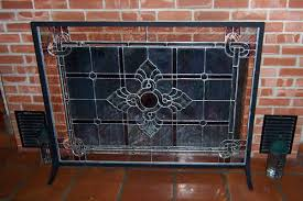 Decorative Fireplace by Interior Decorative Fireplace Screens Designs Stained Glass